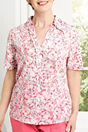 Classic Collection Pure Cotton Floral Blouse [T58-4280-S-LCTB]