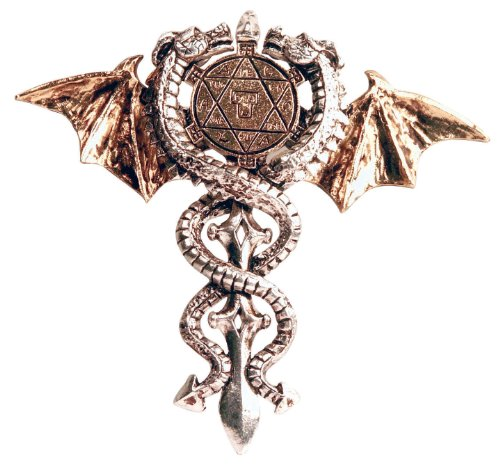 Forbidden Sacred Dragon Amulet Gothic Pendant Amulet Talisman for Physical and Psyhic Protection (FB4)