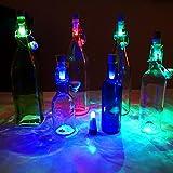 Ecandy Weinflasche Lichter Cork geformte 3 Packs, Brightest Weinkorken USB-Licht auf dem Markt - 12 Lumen für Party Night Club Weihnachten Schlafzimmer Akku / Stromversorgung über USB (3pcs)
