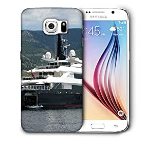 Snoogg White And Grey Boat Printed Protective Phone Back Case Cover For Samsung Galaxy S6 / S IIIIII