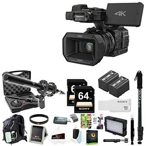 Panasonic HC-X1000 4K 60p/50p Camcorder (Black) + Focus Deluxe Accessory Bundle