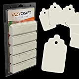 Yazycraft Marking Tags - 1.57 x 0.78inches (Pack of 1800) - Easy to use Refill Writable