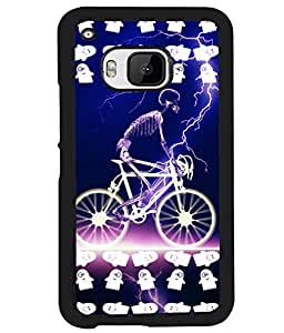 Printvisa 2D Printed Skeleton Designer back case cover for HTC One M9 - D4520