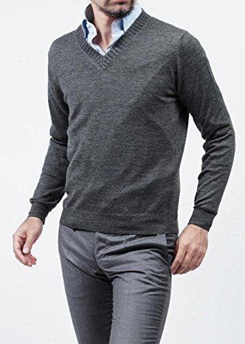 (クルチアーニ) Cruciani Vネックセーター 46サイズ グレー [並行輸入品]