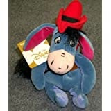 Retired Disney Winnie The Pooh Western Cowboy Eeyore 9 Inch Plush Bean Bag Pony Doll With Bandana, C