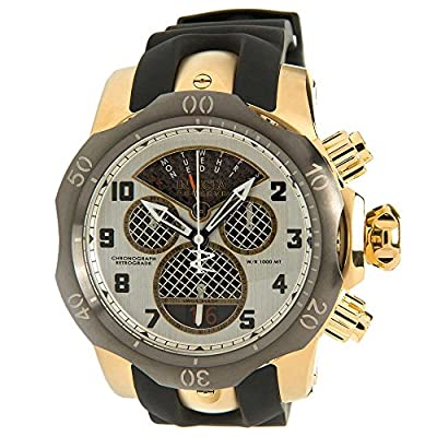 Invicta Subaqua Chronograph Silver Dial Black Polyurethane Mens Watch 16311