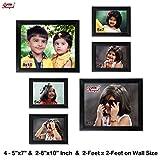 Ajanta Royal Classic set of 6 Individual Photo Frames (4-5x7 & 2-8x10 inch) - WPC-06