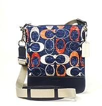 Hot Sale Coach Legacy Heritage Doodle Swingpack Crossbody Bag 48009 Navy Multi