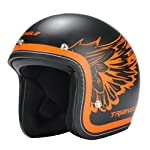 TORC (T50 Route 66) 3/4 Helmet with 'Rebel Star' Graphic (White, Large)