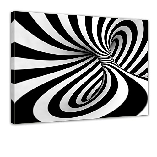 "Bilderdepot24 Leinwandbild ""Abstrakte 3D Spirale"" - 70x50 cm 1 teilig - fertig gerahmt, direkt vom Hersteller"