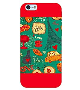 PrintDhaba PARIS LOVE EFFIEL TOWER D-6426 Back Case Cover for APPLE IPHONE 6 (Multi-Coloured)