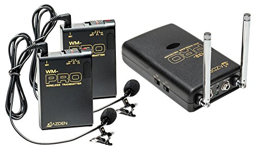 Azden Wireless Stereo 2-Lavalier Microphone Kit Wdl Pro