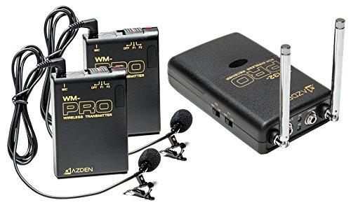 Azden Wireless Stereo 2-Lavalier Microphone Kit Wdl Pro