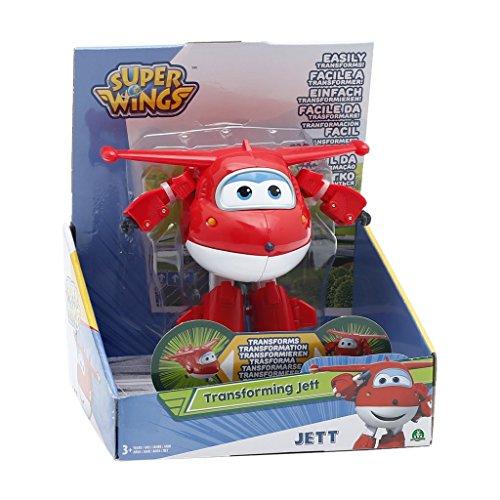 Giochi Preziosi - Jett, Aereo Robot Personaggio Trasformabile Articolato, Alto 12 cm