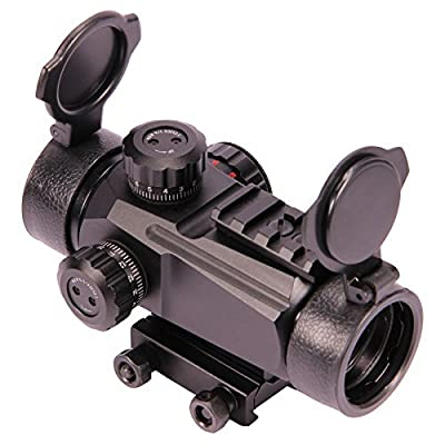 """Vokul Tactical Multi Optical Coated 1x35mm Red and Green Dot Scope Sight with Top Weaver Picatinny 7/8"""" Shotgun Gun Rifle Pistol Mount Battery & Lens Cleaning Cloth for Adjustable Brightness from Vokul"""