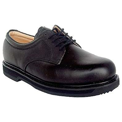 vegace 9001 mens black leather non slip