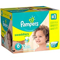 Pampers Swaddlers Diapers Size 6 (72 Count)