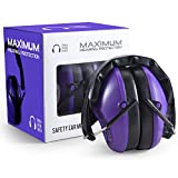 Pro For Sho 34dB NRR Noise Cancelling Shooting Ear Muffs - Special Designed Lighter Weight & Maximum Hearing Protection , Purple