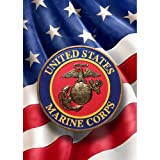 Patriotic Marines Garden Flag