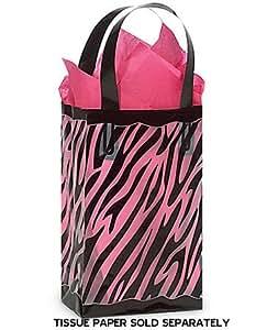 black clear zebra plastic shopper gift bag 3 mil hd 5 1 4x3 1 4x8 1 2 quantity. Black Bedroom Furniture Sets. Home Design Ideas