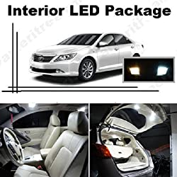 See Ameritree Xenon White LED Lights Interior Package + White LED License Plate Kit for Toyota Camry 2012-2014 with sunroof (9 Pcs) Details
