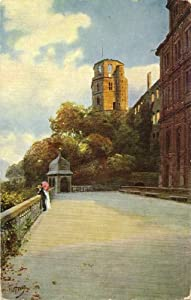 1910 Vintage Postcard - Schlossaltan - Castle Balcony - Heidelberg Castle - Heidelberg Germany