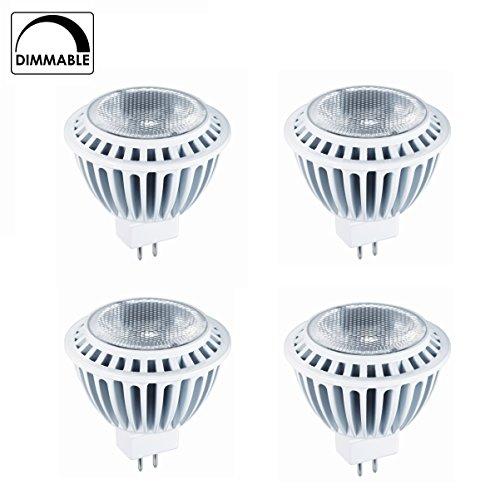 4-Pack Of Hyperikon® Mr16 Led 7-Watt (50-Watt Replacement), 4000K (Daylight), 510Lm, Wide Flood Light Bulb, Dimmable, Ul-Listed