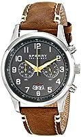 Sperry Top-Sider Men's 10018674 Leeward Analog Display Japanese Quartz Brown Watch from Sperry Top-Sider Watches MFG Code