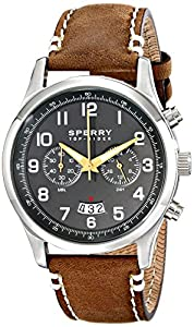 Sperry Top-Sider Men's 10018674 Leeward Analog Display Japanese Quartz Brown Watch from Sperry Top-Sider Watches MFG Code