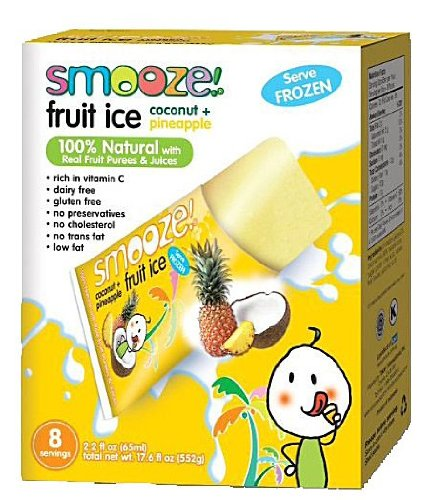 Smooze Fruit Ice Coconut with Pineapple 17.6 oz. (Pack of 12)