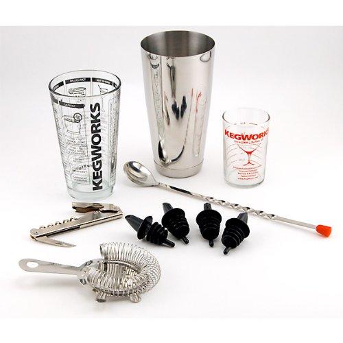 pro bartender cocktail mixing set home garden kitchen dining barware drink shakers tools. Black Bedroom Furniture Sets. Home Design Ideas