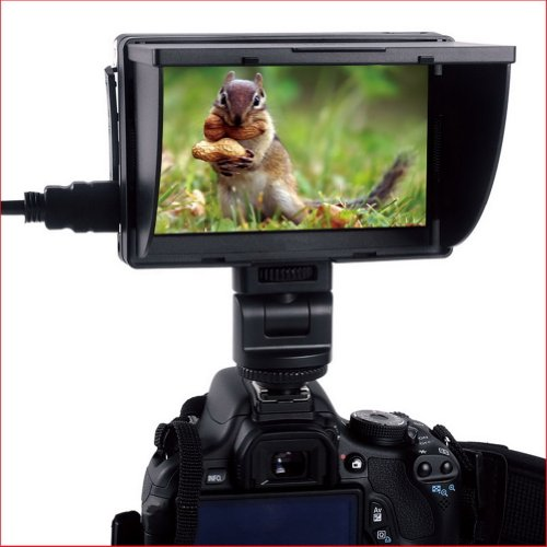 "Neewer® Dc-50 Hd Clip-On 5"" Inch Lcd Monitor Portable Wide View For Canon Nikon Sony"
