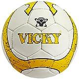 Vicky Soyuz Football, Size-5 (White/Yellow)