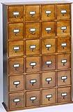 Leslie Dame CD-456ES Solid Oak Library File Media Cabinet, Espresso