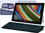 Navitech Black Slim Wireless Windows Bluetooth Keyboard For The HP ElitePad 900 / HP Slate 2 / HP Envy Rove 20