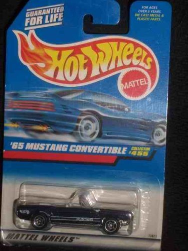 #455 '65 Mustang Convertible Dark Blue Collectible Collector Car Mattel Hot Wheels - 1