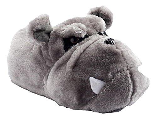 Bulldog Faux Fur Slippers size 2/3 (Kohls Bulldog compare prices)