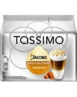 Tassimo Jacobs Caramel Macchiato, Rainforest Alliance Vérifié, Lot de 5, 5 x 16 T-Discs (8 Portions)