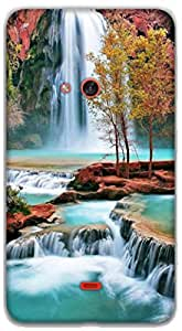 The Racoon Lean amazing waterfall hard plastic printed back case / cover for Nokia Lumia 625
