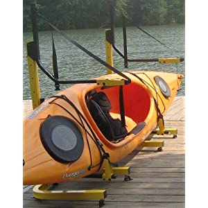 Click to buy 2-Boat Free Standing Kayak-Canoe Storage Rack from Amazon!