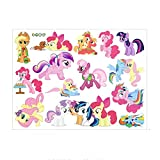 Fangeplus R DIY Removable Cartoon Pony My Little Pony: Friendship Is Magic Cute Cartoon Anime Art Mural Vinyl Waterproof Wall Stickers Kids Room Decor Nursery Decal Sticker Wallpaper 23.6''x17.7'' (Color: Cartoon Pony, Tamaño: 23.6''x17.7'')