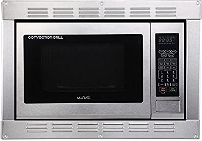 1.0 Cubic Foot, 120v Cul Stainless Steel Microwave Convection Oven and Grill with Built-in Trim Kit