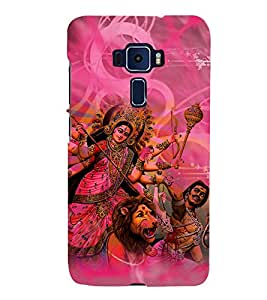 Durga Maa Cute Fashion 3D Hard Polycarbonate Designer Back Case Cover for Asus Zenfone 3 ZE552KL (5.5 Inches)