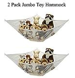 2 Pack Jumbo Toy Hammock Net Organize Stuffed Animals