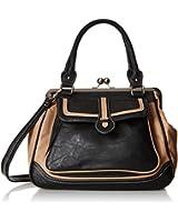 MG Collection Aubrey Vintage Clasp Closure Doctor Style Shoulder Bag