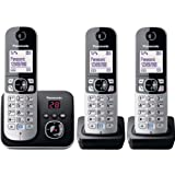 ✬  Top Panasonic KX-TG6823 Telephone with Answer Machine - Triple with accompanying HSB Microfibre Cleaning Glove