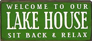My Word 5.5 x 12-Inch Block Sign, Lake House