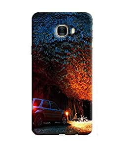 Blue Throat Printed Designer Back Cover For Samsung Galaxy C7