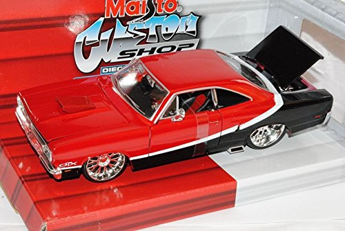 plymouth-gtx-tuning-coupe-rot-schwarz-1970-1-24-maisto-modell-auto