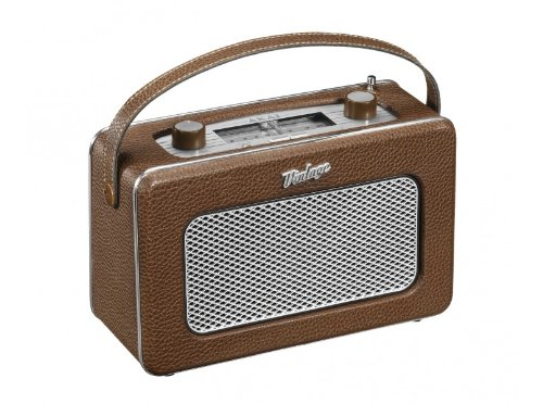AKAI APR200BN Vintage Collection Portable Radio - Brown